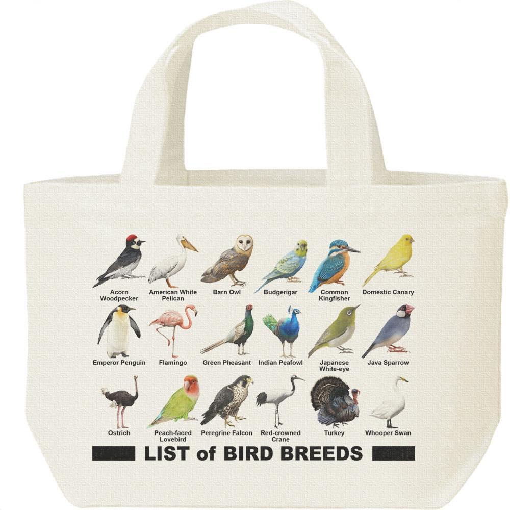 鳥のリスト/キャンバスバッグ・S(ランチバッグ)