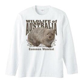 ヒメ ウォンバット(オーストラリアの生物)/長袖Tシャツ