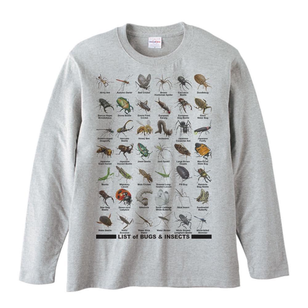 虫のリスト/長袖Tシャツ