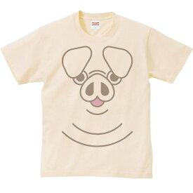 ファニーフェイス・ブタ(豚)/半袖Tシャツ