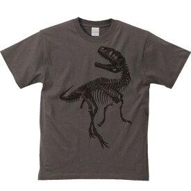 恐竜の全身骨格(化石)/半袖Tシャツ
