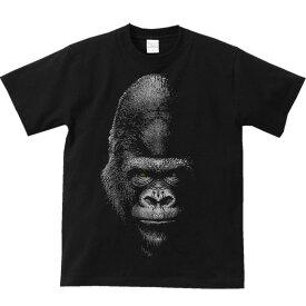 暗闇のゴリラ/半袖Tシャツ