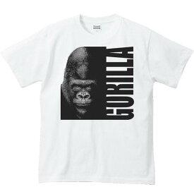 暗闇のゴリラ&ロゴ/半袖Tシャツ
