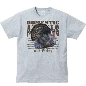 七面鳥(シチメンチョウ)飼育動物・家畜/半袖Tシャツ