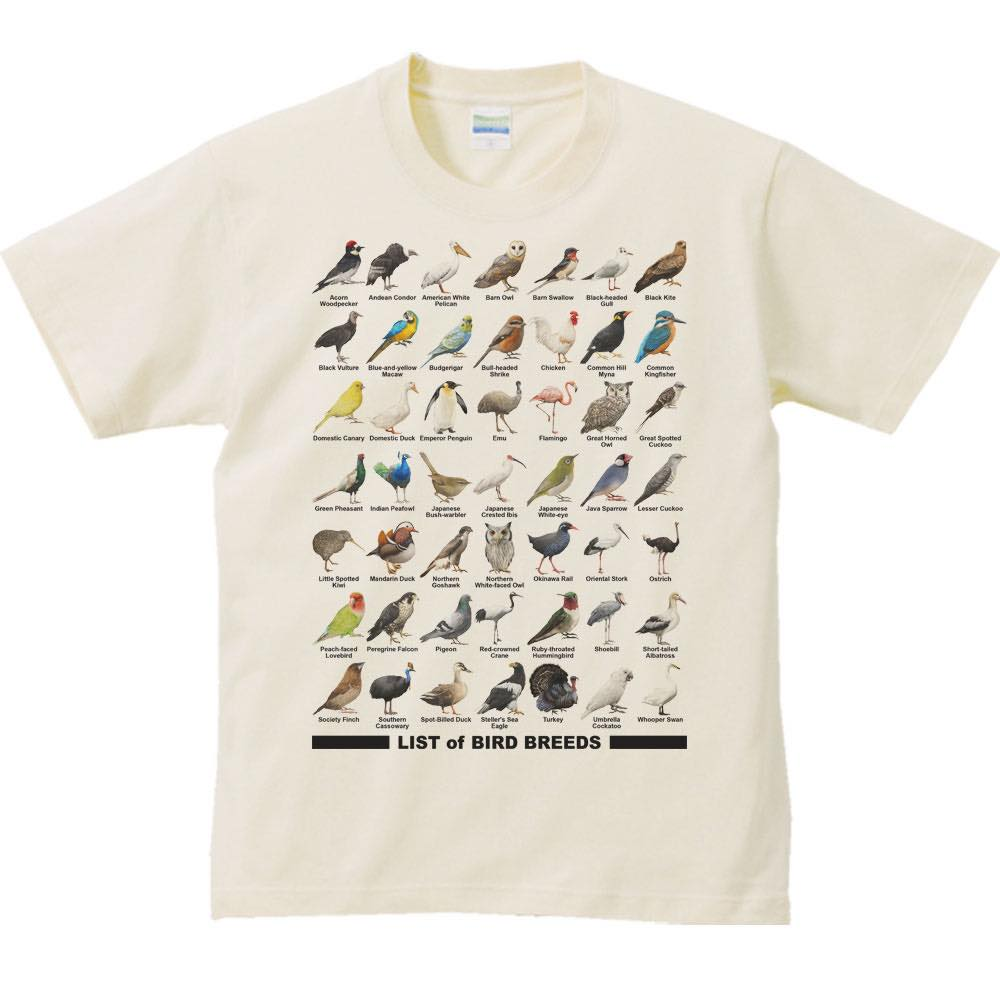 鳥のリスト/半袖Tシャツ