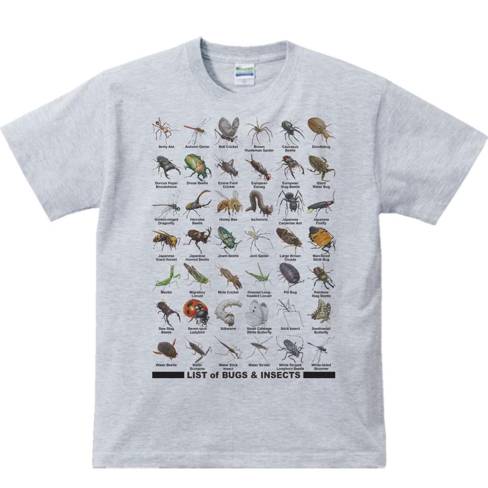虫のリスト/半袖Tシャツ