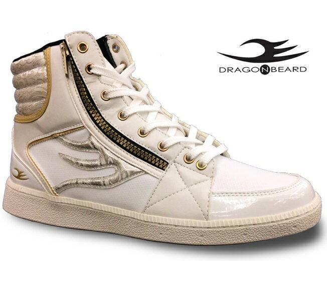 ドラゴンベアード スニーカーDRAGONBEARD DB-2601 W/Wドラゴンベアード DB-2601ホワイト/ホワイトメンズスニーカー メンズ靴 紳士靴 靴