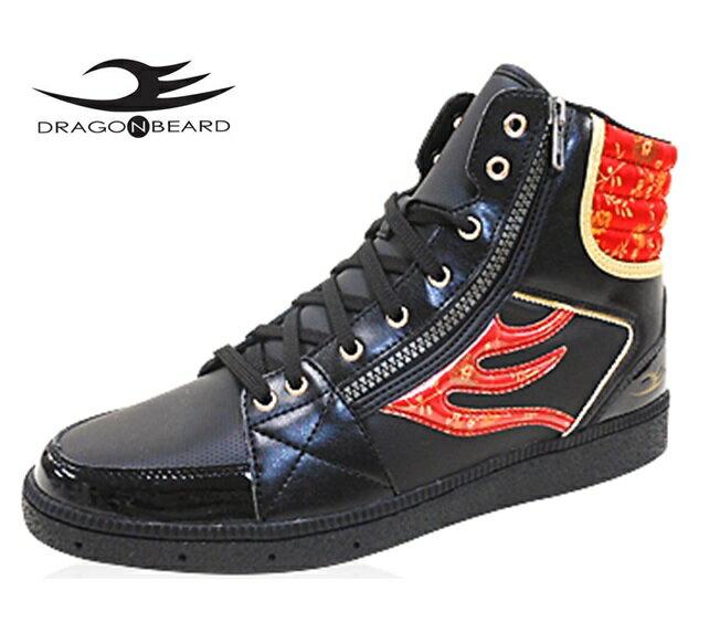 ドラゴンベアード スニーカーDRAGONBEARD DB-2601 BLK/REDドラゴンベアード DB2601 ブラック/レッドメンズスニーカー メンズ靴 紳士靴ダーツ