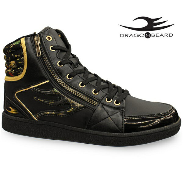 ドラゴンベアード スニーカーDRAGONBEARD DB-2601 BLK/BLKドラゴンベアード DB2601 ブラック/ブラックメンズスニーカー メンズ靴 紳士靴