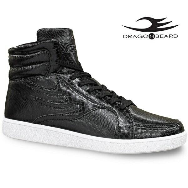 ドラゴンベアード スニーカーDRAGONBEARD DB-0900 BLKドラゴンベアード DB0900 ブラックメンズスニーカー メンズ靴 紳士靴 ハイカットスニーカーダーツ