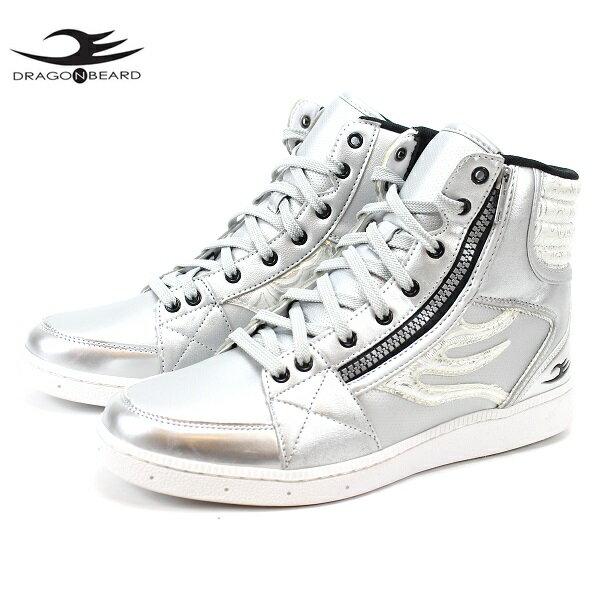 ドラゴンベアード スニーカーDRAGONBEARD DB-2601 ALL SLVERメンズスニーカー メンズ靴 紳士靴 靴ダーツ