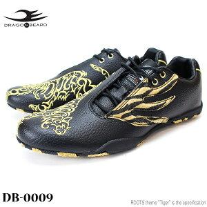 ドラゴンベアード スニーカーDRAGONBEARD DB-0009 BLACKタイガー 虎柄 トラ柄ダーツ