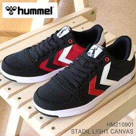 ヒュンメル スニーカーhummel STADIL LIGHT CANVAS HM210901 2001 BLACKスタディールライト キャンバス スニーカー