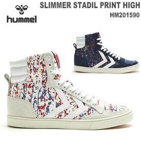 ヒュンメル スニーカーhummel SLIMMER STADIL PRINT HIGH HM201590スリマースタディールスポーツ カジュアルシューズ ヒュンメルライフスタイルシューズ