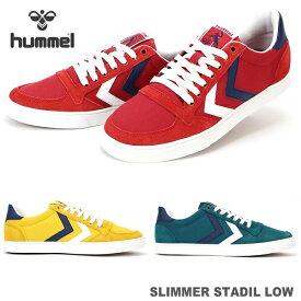 ヒュンメル スニーカーhummel SLIMMER STADIL LOW HM204493スリマースタディールロー キャンバススニーカー ローカットスニーカー