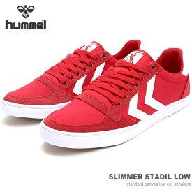 ヒュンメル スニーカーhummel SLIMMER STADIL LOW HM202189-3425スリマースタディール ローカットスニーカー キャンバススニーカー