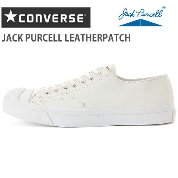 コンバース ジャックパーセルCONVERSE JACK PURCELL LEATHERPATCH ホワイト 1CK866コンバース ジャックパーセル レザーパッチスニーカー 靴