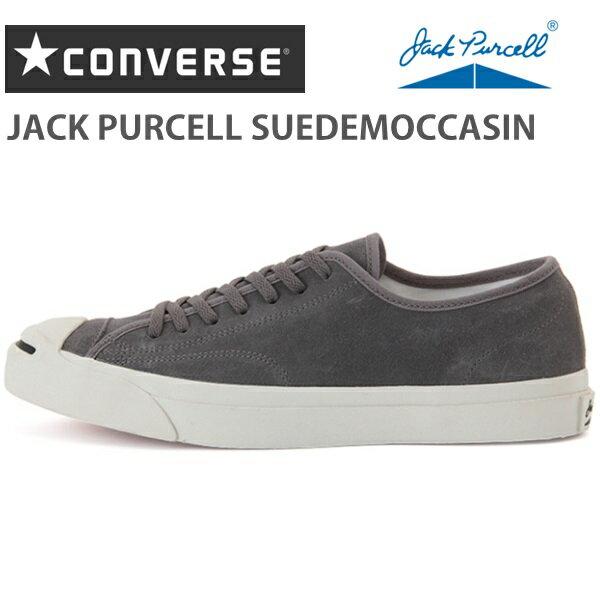 コンバース ジャックパーセルCONVERSE JACK PURCELL SUEDEMOCCASIN グレージャックパーセル スエードモカシン 1CK864