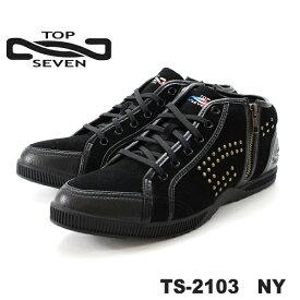 トップセブン スニーカー TOP SEVEN TS-2103NYレザースニーカー 靴