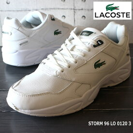 ラコステ メンズスニーカーLACOSTE STORM 96 LO 0120 3 SM00740-1R5白 スニーカー レトロハイテクスニーカー