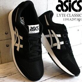 アシックス asics メンズスニーカー ライトクラシックasics LYTE CLASSIC 1191A297-001 BLACK/WHITE
