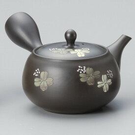美味しいお茶を淹れるならこれ常滑焼急須【陶製茶こし急須】春秋緑泥イブシクローバー急須