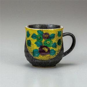 九谷焼 マグカップ 吉田屋山茶花 ( マグカップ 和食器 おしゃれ コーヒーカップ マグ コーヒーマグ 和モダン かわいい 可愛い カップ コップ 食器 カフェ風 モダン 和柄 来客用 紅茶 かわいい