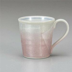 九谷焼 マグカップ 銀彩ピンク ( マグカップ 和食器 おしゃれ コーヒーカップ マグ コーヒーマグ 和モダン かわいい 可愛い カップ コップ 食器 カフェ風 モダン 和柄 来客用 紅茶 かわいい