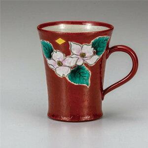 九谷焼 マグカップ 花水木 ( マグカップ 和食器 おしゃれ コーヒーカップ マグ コーヒーマグ 和モダン かわいい 可愛い カップ コップ 食器 カフェ風 モダン 和柄 来客用 紅茶 かわいい 和風