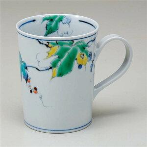 九谷焼 マグカップ 野ぶどう ( マグカップ 和食器 おしゃれ コーヒーカップ マグ コーヒーマグ 和モダン かわいい 可愛い カップ コップ 食器 カフェ風 モダン 和柄 来客用 紅茶 かわいい 和