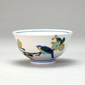 九谷焼 飯碗 金糸梅に鳥 ( ( ごはん ご飯茶碗 ごはん茶碗 お茶碗 ちゃわん 茶わん ライスボウル おしゃれ オシャレ カフェ風 和モダン 食器 誕生日 プレゼント 贈り物 祝 縁起 礼 カトラリー