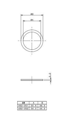 カクダイ(KAKUDAI)排水用平パッキン(呼32×外径38ミリ)492-051
