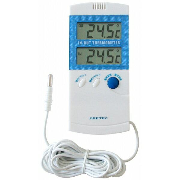 【ゆうパケット対応】ドリテック(dretec) 室内室外温度計 ブルー O-209BL