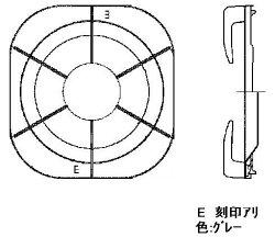 リンナイ(Rinnai)ごとく(五徳)【左右共通】(グレー)010-220-000
