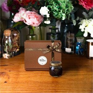 【生はちみつギフト】ハニーショコラM(90g) / ブラウンギフトボックス(S) + MYHONEYロゴ入りリボン + 手提げ袋