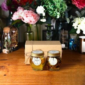 【生はちみつギフト】アカシアハニーL(200g) + ナッツの蜂蜜漬け エトワールL(200g) / ナチュラルクラフトボックス(M) + 麻紐リボン