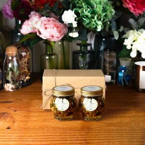 【生はちみつギフト】ナッツの蜂蜜漬け エトワールL(200g)× 2 / ナチュラルクラフトボックス(M) + 麻紐リボン