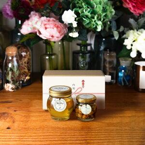 【生はちみつギフト】アカシアハニーL(200g) + ナッツの蜂蜜漬け エトワールM(90g) / ナチュラルクラフトボックス(M) + 熨斗