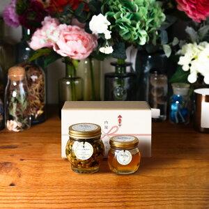 【生はちみつギフト】ナッツの蜂蜜漬け エトワールL(200g) + アカシアハニーM(90g) / ナチュラルクラフトボックス(M) + 熨斗
