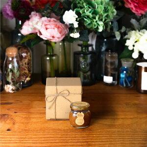 【生はちみつギフト】ピーナッツハニーM(90g) / ナチュラルクラフトボックス(S) + 麻紐リボン + 手提げ袋