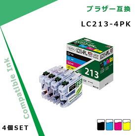 ブラザー 互換 インク LC213-4PK 4色セット 残量表示対応 Myink B213-4P brother