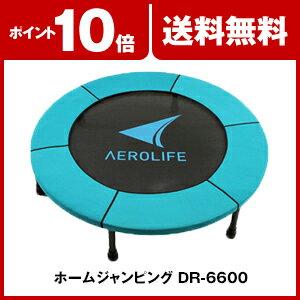 トランポリン ホームジャンピング DR-6600 トランポリン 家庭用 エアロライフ 静音 大型 エクササイズ 子供 大人