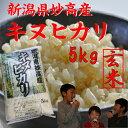 新潟県 妙高産 キヌヒカリ【玄米】5kg【28年産 一等米】
