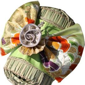 着物 米俵 結婚式 両親 プレゼント 思い出 ウエディング 米俵の上に着物の飾りを付けられます