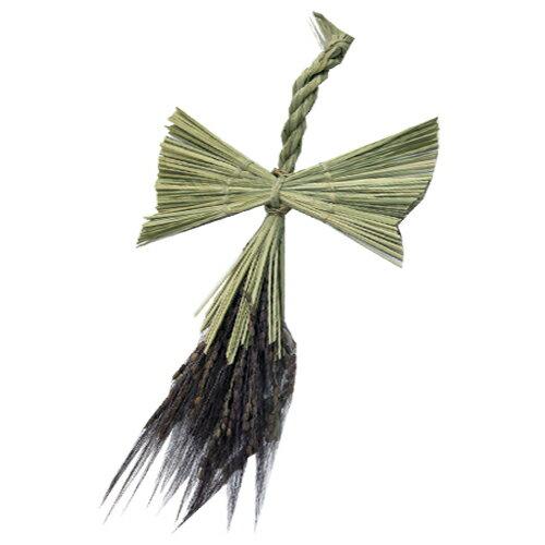 ワラ細工で出来た「鶴」が載せることが出来ます縁起物