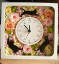 プリザーブドフラワー 猫花時計 ねこ好き 開店祝い 結婚祝い 誕生日プレゼント ネコ 雑貨
