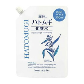 熊野油脂 麗白 ハトムギ化粧水 詰替 500ml