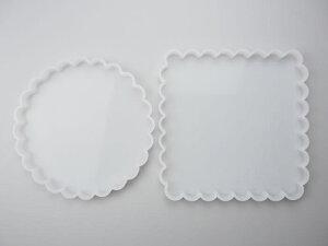 型枠 フレーム 四角 正方形 丸 プレート シリコンモールド アロマワックスサシェ サシェ クレイケーキ アクセサリー チャーム キャンドル アロマストーン レジン インアリウム クリアリウム