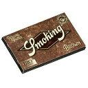 【Smoking】スモーキング 手巻きタバコ用 巻紙120枚入 No.8 ブラウン ダブル ペーパー Smoking・Brown Unbleached 70m…