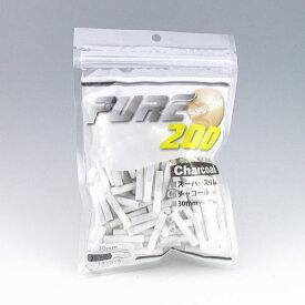 PURE 手巻きタバコ ピュア スーパースリム チャコール・フィルター 手巻きタバコ用 200個入 直径約5.3mm 長さ約30mm